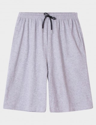 Inviting Light Grey Sleepwear Plain Drawstring Mens Bottom