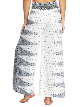 High Fashion High Waist Wide Legs Pants Dot Printing For Cool Girls