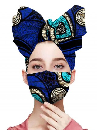 Voluptuous Cotton Headscarf Elastic Ear Loop Mask Super Faddish