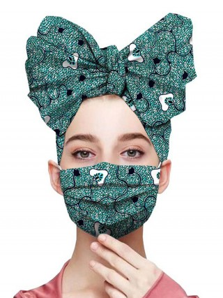 Extreme African Pattern Headscarf Dust-Free Mask Casual Wear