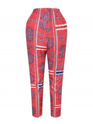 Simply Ankle Length African Pants High Waist Women's Essentials