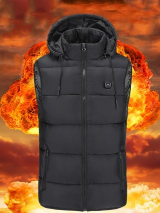 Black Temperature Adjustment USB Heating Vest Cheap Fashion Style