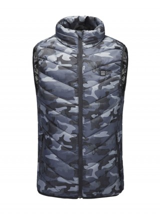 Camo Print Armhole Design Heated Jacket Loose Fit