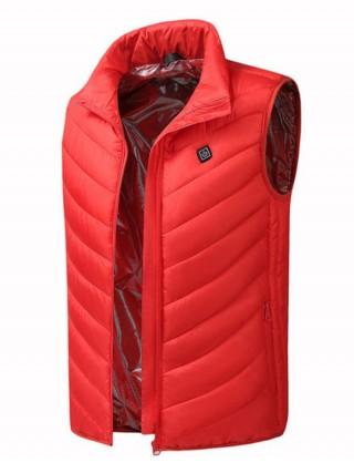 Queen Size Red Stand-Up Neck Heating Vest Great Quality