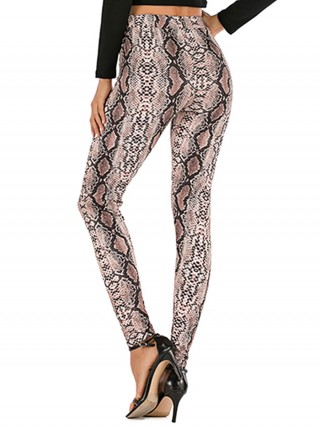 Spectacular Snake Skin Tight Pants High Waist Sexy Ladies