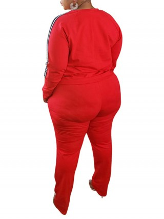 Plus Size Side Pockets Red Women Suit Fashion Sale