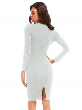 Particularly V-Collar Long Sleeve Bodycon Dress Comfort Fashion