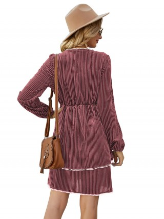 Enthralling Double Layered Mini Dress Patchwork Online