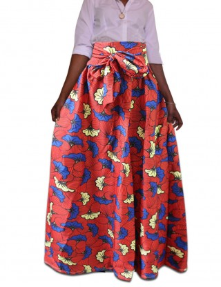 Dreamy Plus Size Fashion African Print High Waisted Skirts Workout