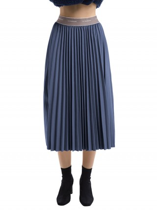 Exquisitely Blue High Waist Maxi Dress Ruched Home Dress