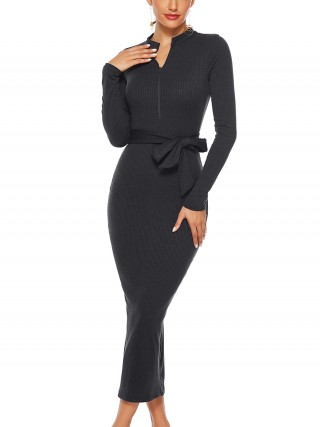 Black Turtleneck Knit Dress Full Sleeves Sale Online Ladies Fashion