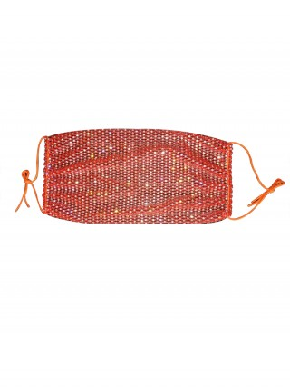 Diaphanous Orange Dustproof Diamond Earloop Mouth Mask Fashion