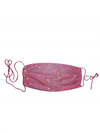 Luxurious Rose Red Reusable Lattice Mouth Mask Breathable
