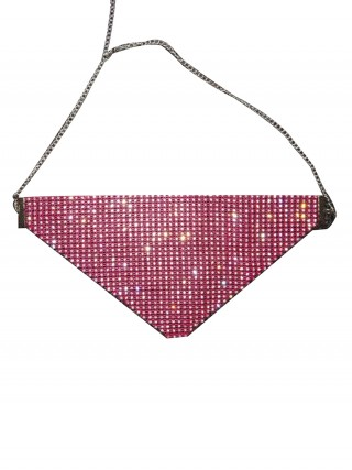 Sale Online Rose Red Lattice Glitter Jewelry Mask Reusable