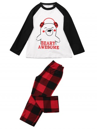 Adorned Child Christmas Printed Sleepwear Set Sale Online