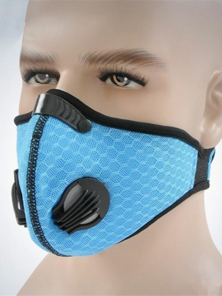 Unique Blue Activated Carbon Valve PM2.5 Dust-proof Mask