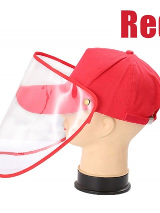 Red Removable Sun Shade Protective Cover Hat For Outdoor