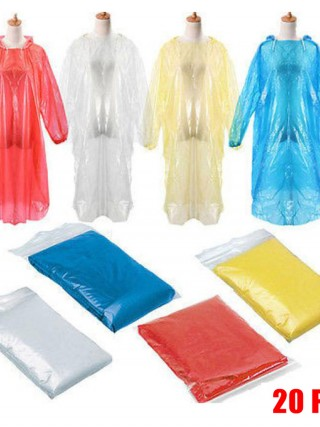 Cheap 20Pcs Disposable Raincoats Against Dust Breathable