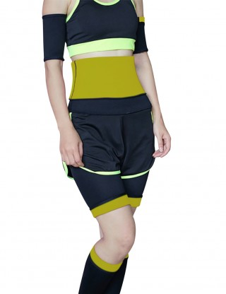Yellow Neoprene Lose Arm Fat Slimmer Improves Blood Circulation