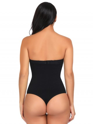 Glam Black Large Size High Rise Butt Lifter Slimming Belly