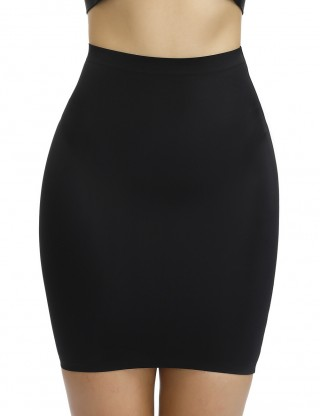 Ultra Light Black High Waist Solid Color Butt Lifter Skirt Bandage