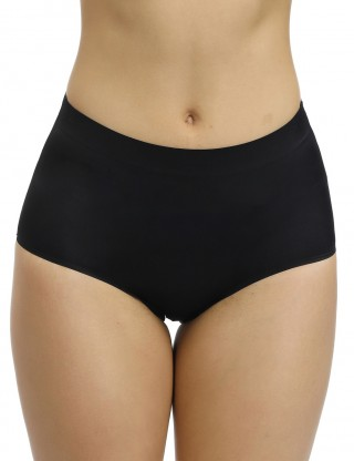 Amazing Black Solid Color High Elastic Butt Enhancer Panty Close Fitting