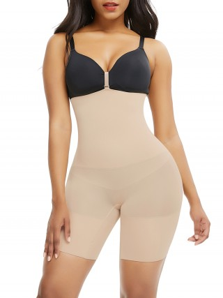 Ultra Light Skin Color Seamless Shaper Buckle Mid-Thigh Curve-Creating