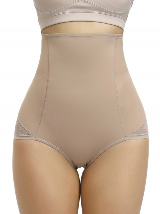 Stretchy Nude Color Seamless Butt Enhancer Floral Paint