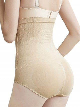 Figure Sculpting Khaki Butt Lifting Three Hooks Seamless Panty Best Selling
