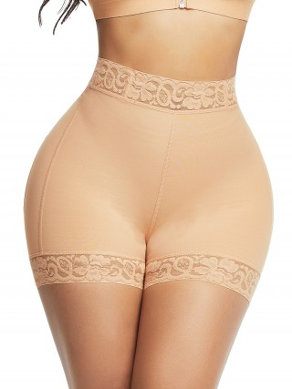 Deep Skin Color Lace Trim Stomach Control Panties Best Selling