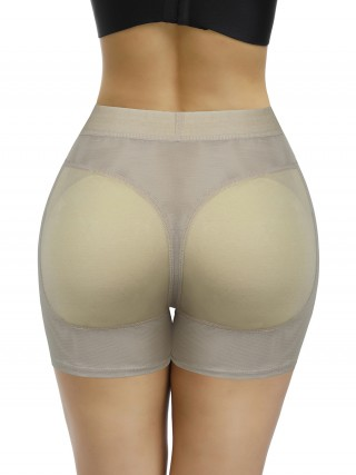 Well-Suited Apricot Plain Padded Butt Enhancer Shorts Fat Burner