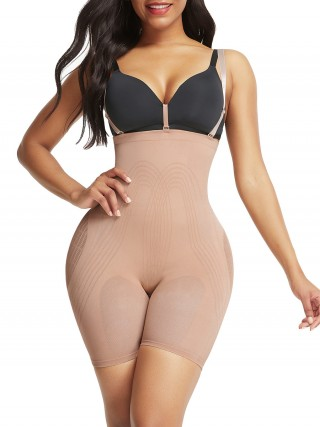 Higher Power Skin Color Seamless Tummy Control Body Shaper High Impact