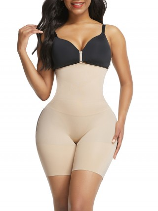 Tummy Trimmer Skin Color Seamless Buckles Shapewear Shorts Glue