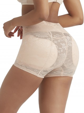 Skin Color High Waist Panty Shaper Jacquard Weave Shaping Comfort