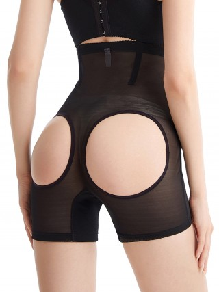 Higher Power Black Open Butt High Waisted Shaper Panty Curve-Creating