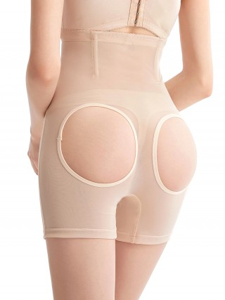 Control Midsection Complexion Mesh Open Butt Lifter Panties Shapewear