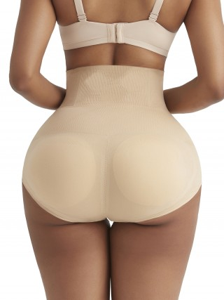 Comfort Devotion Apricot Seamless Padded Butt Enhancer Panties