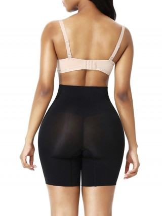 Black Seamless Large Size Body Shaper Shorts Curve Slimmer