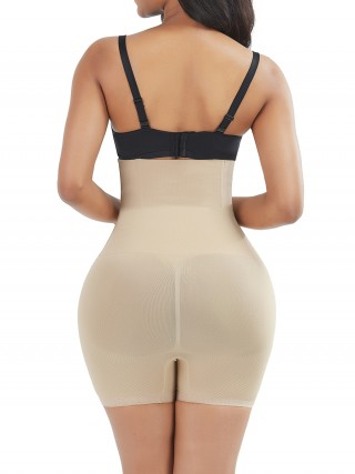 Powerful Skin Color Thigh Length High Waist Panty Shaper High-Compression