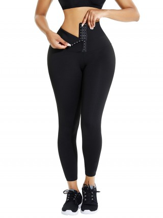 Black High Waist Pant Shaper Full Length Good Elastic