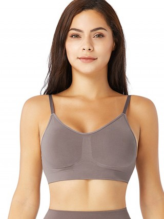 Purple Removable Pads Seamless Bra Push Up Online Wholesale