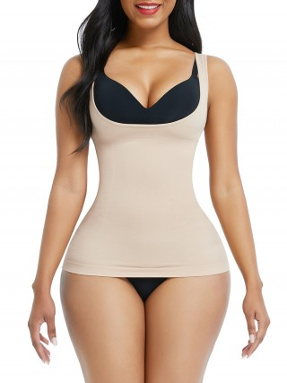 Skin Color Large Size Tank Shaper Full Back Seamless Firm Compression