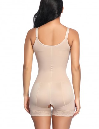 Elastic Nude Boyleg Body Shaper Adjustable Straps Fat Burning