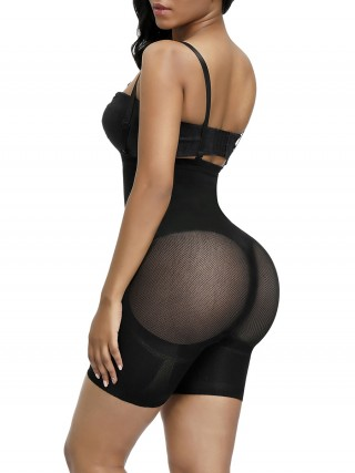 Charming Black Double Straps Seamless Full Body Shaper Moisture Wicking