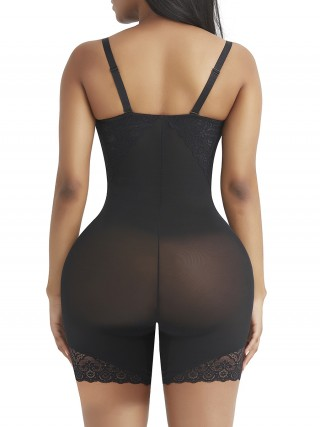 Desirable Designed Black Shapewear Tummy Control Removable Straps