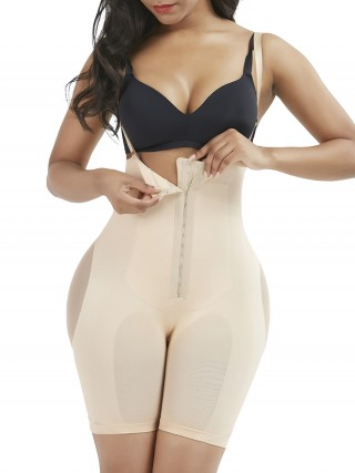 Skin Color Body Shaper Plus Size Adjustable Strap Compression Silhouette