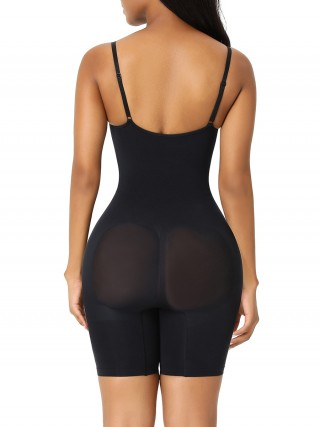 Black Seamless Plus Size Full Body Shaper Figure Shaping