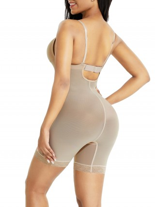 Skin Color Low Back Open Crotch Lace Body Shaper Superfit Everyday