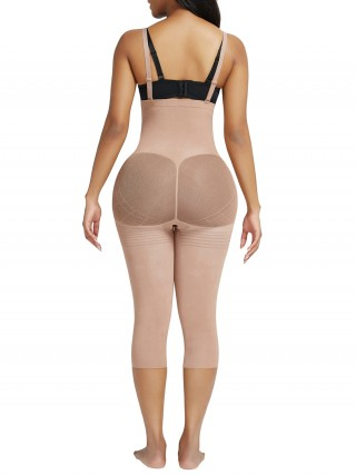 Nude Seamless Adjustable Straps Full Body Shaper Firm Control