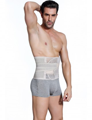 Slimming Nude Men Belly Sheath Belt Waist Cinchers Fat Burner